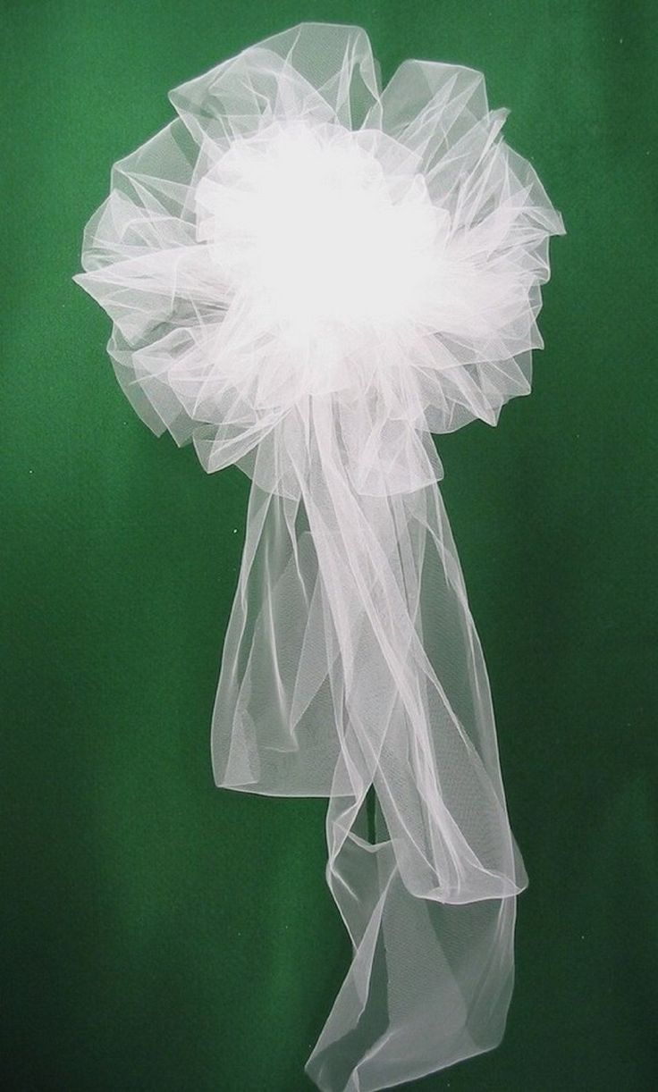 1000 ideas about Tulle Pew Bows on Pinterest  Pew Bows