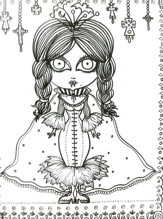 gothic vampire coloring pages for adults coloring pages