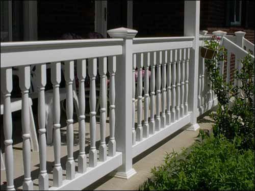porch railing vinyl for front porch  The Front Porch  Pinterest  Porch railings Front