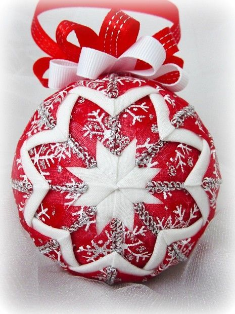 quilted christmas tree ornaments on styrofoam balls  Google Search  quiltingsewing  Pinterest  Christmas trees Christmas tree ornaments and Mom