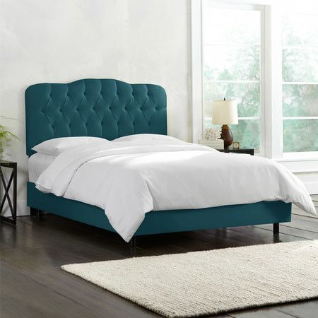 Carnaby Upholstered Bed In Mystere Peacock Beds Beds