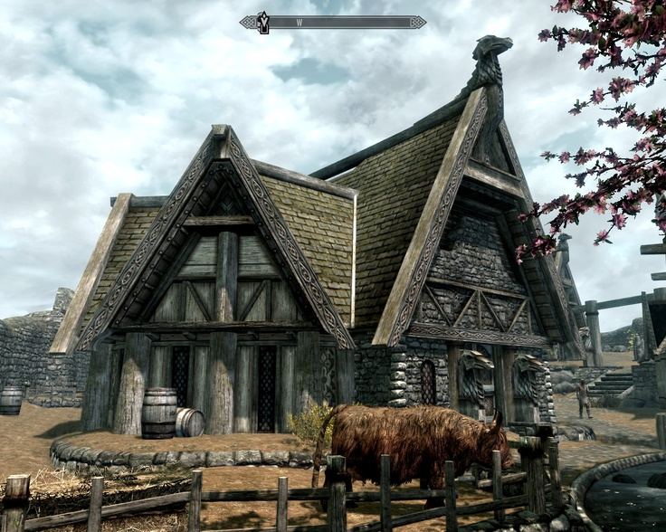 Skyrim Architecture  Norse Cabin  Pinterest  Skyrim And