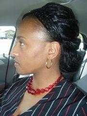 wig updo with sensationnel hz