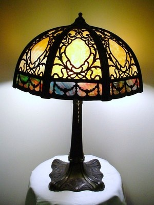 57 Best Images About Lamps Slag Glass Stained Glass