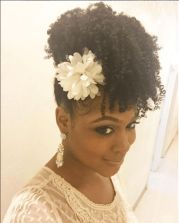 chic natural hairstyles weddings