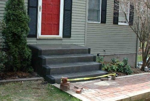 Painted Concrete Steps Patio Pinterest Painted | Painting Outside Concrete Steps