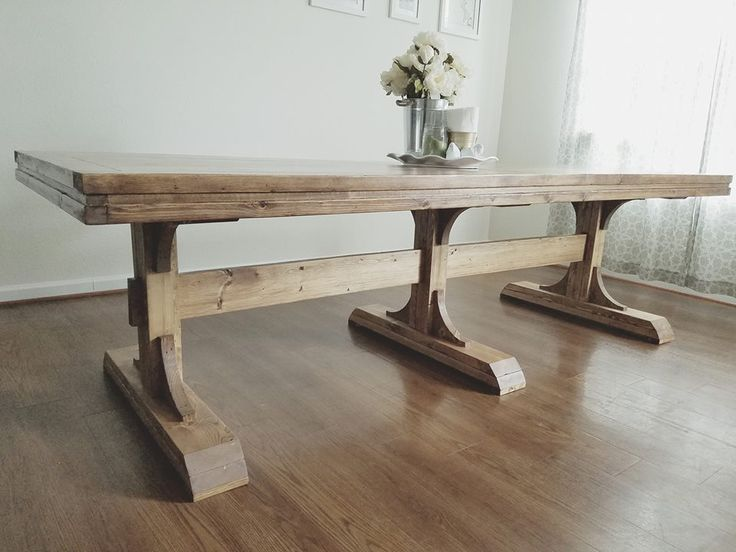 25+ Best Ideas About Trestle Dining Tables On Pinterest