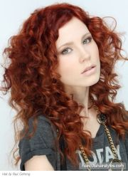 curly red