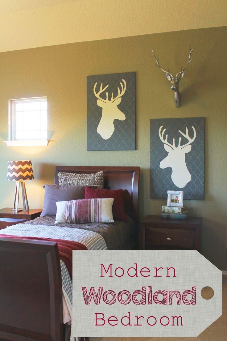 Modern Woodland Bedroom Great For Teen Or Tween Also