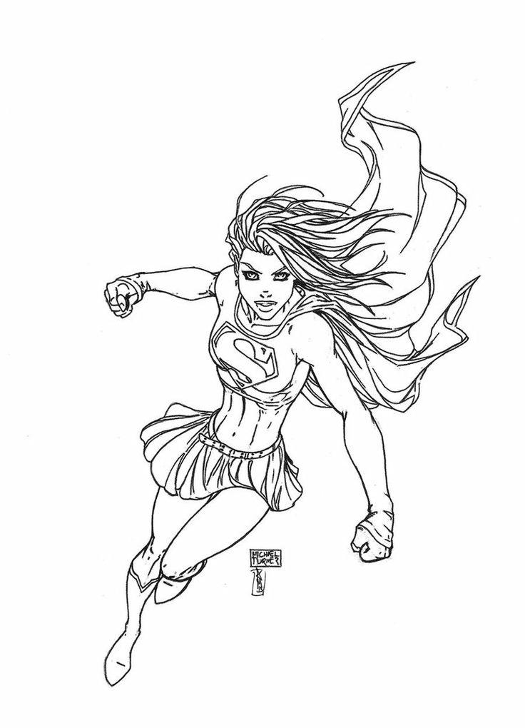 Michael Turner Sketch Of Supergirl