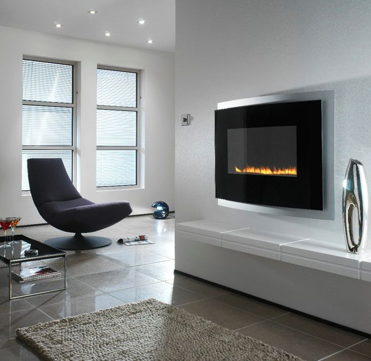 24 Best Images About Wall Mounted Fireplaces On Pinterest