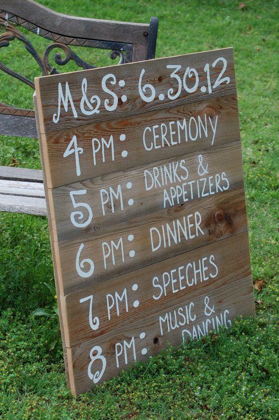 Best 25 Wedding itineraries ideas on Pinterest  Wedding program chalkboard Rustic wedding