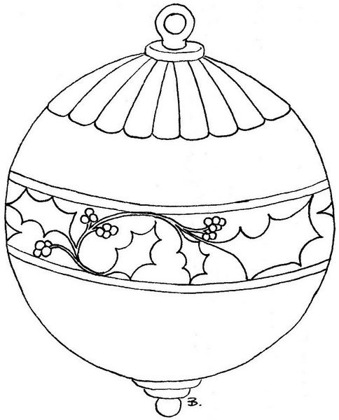 Inspirational Christmas Ornament Coloring Pages Image