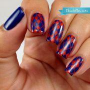 argyle nails ideas