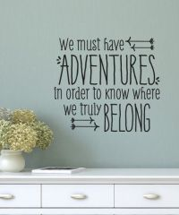 Black 'We Must Have Adventures' Wall Quotes Decal ...