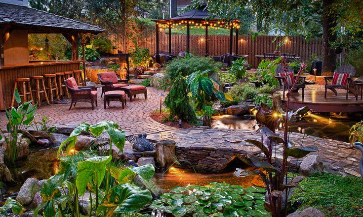 Tropical Landscape Fire Pit