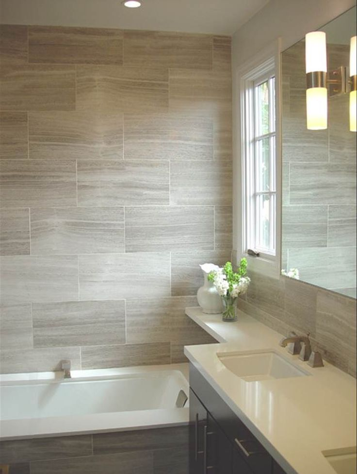 wood look tile for shower surround in upstairs hall bath  House Ideas  Pinterest  Countertops