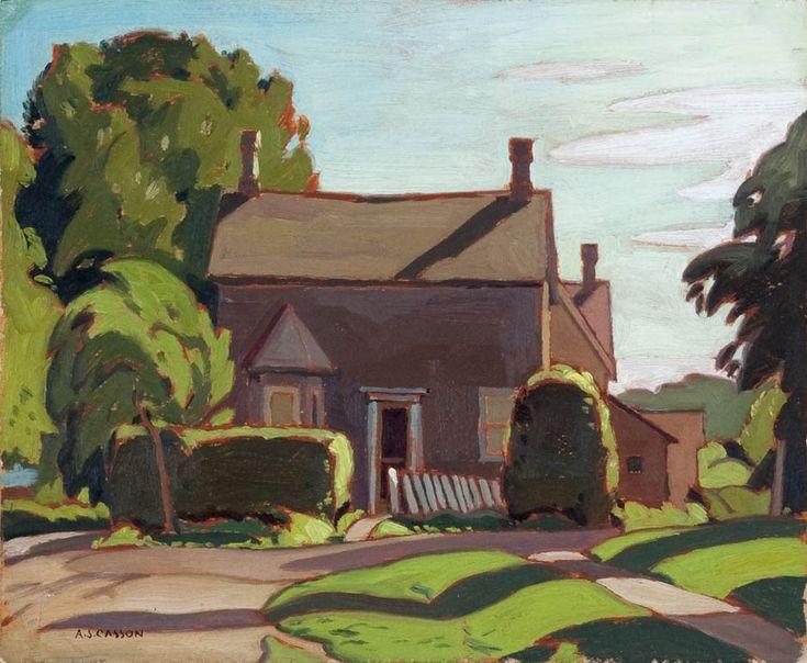 Alfred Joseph Casson Farmhouse At Mayberry Fine Art A