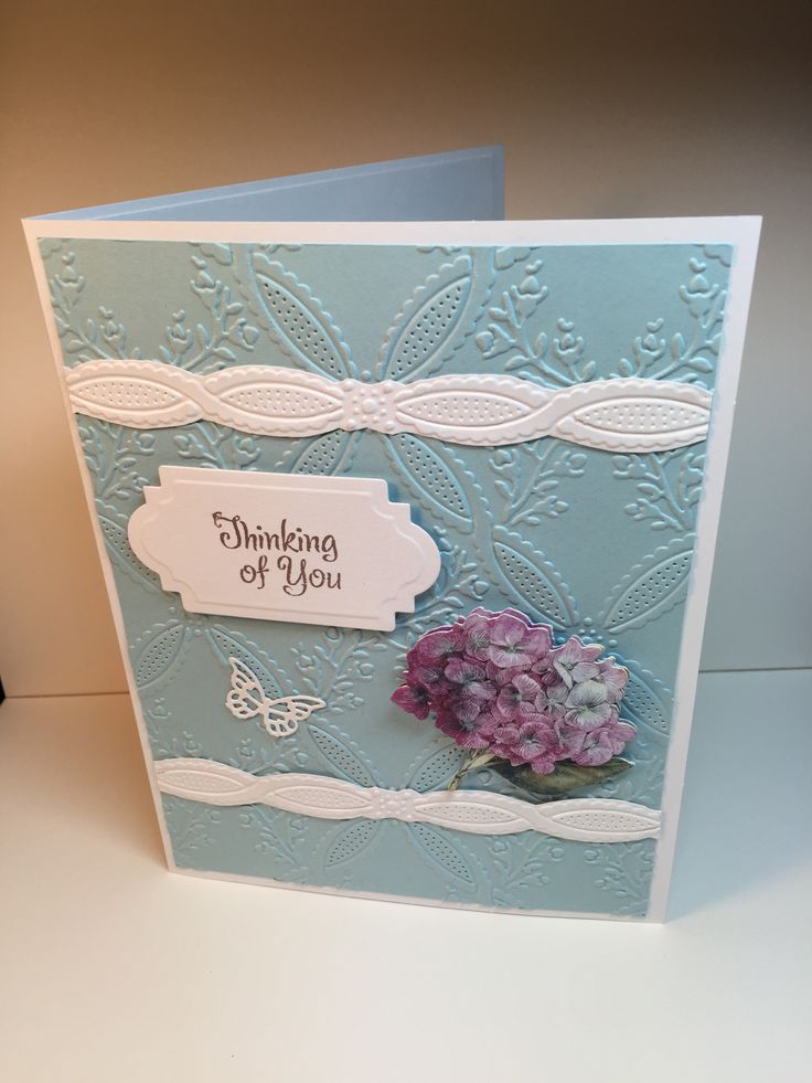 Climbing Rose Embossing Folder Anna Griffin Cards I Made
