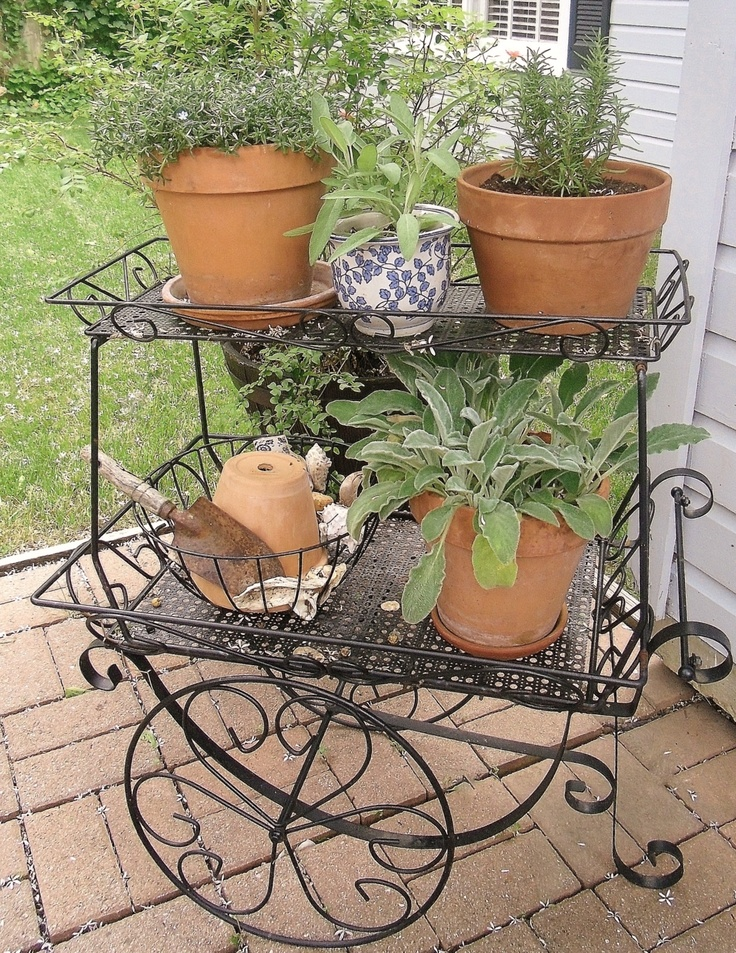 Wrought Iron Plant Stand Planters  Woodworking Projects