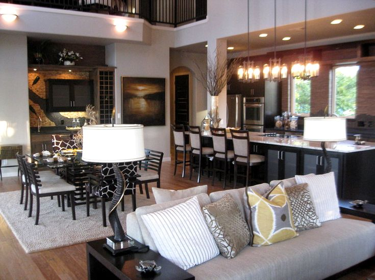 small open plan kitchen diner living room house ideas the concept and paint ...