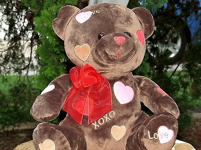 RARE Walmart Brown Love Teddy Bear Valentines Day 11 Doll