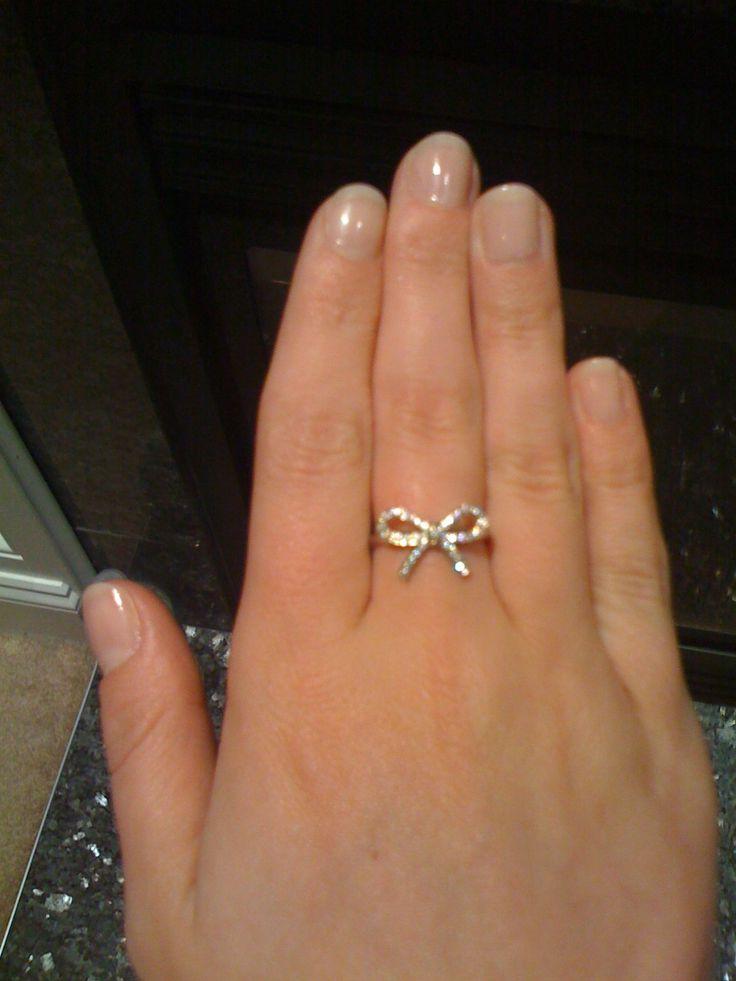 TIffany Diamond Bow RING  Girls best friend  Pinterest