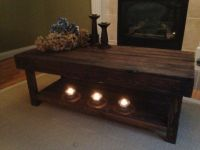 Reclaimed Wood Coffee Table with Lower Shelf Harvest ...