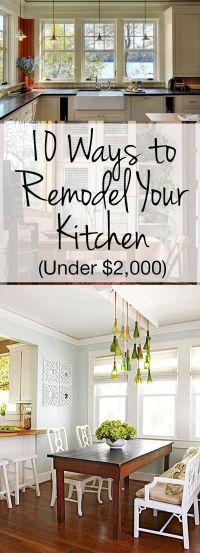 25+ best Cheap Kitchen Remodel ideas on Pinterest | Budget ...