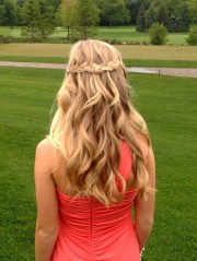prom hair #waterfall #braid #hair