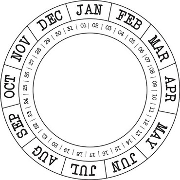 52 best images about circular calendars on Pinterest