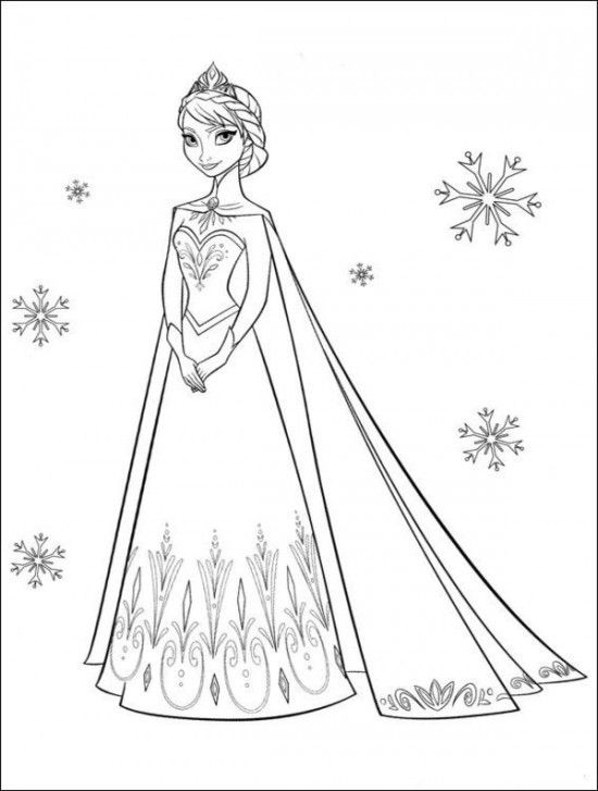 FREE Frozen Coloring Pages Disney Picture 32 550x727