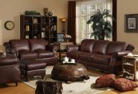 Brown Burgundy Living Room
