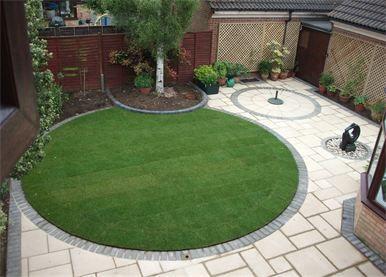 Circular Garden And Paving Design In Cambridge Gardening