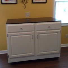 Kitchen Island Made Out Of Dresser Granite Sinks Moveable A Base Cabinet ...