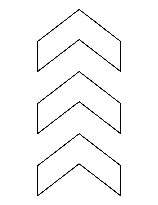 Chevron pattern. Use the printable outline for crafts