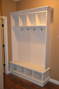 Entryway Storage Bench And Wall Cubbies