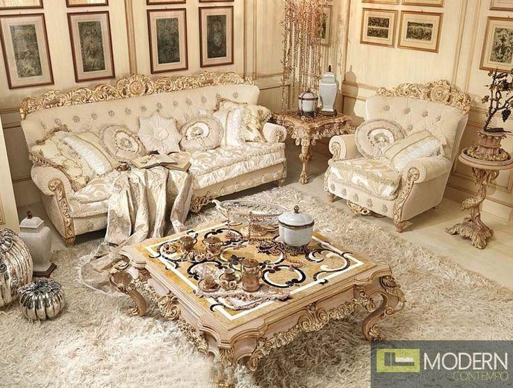 3PC Italian Luxury Style Living Room Sofa Set