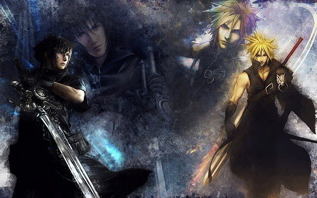 High Res Anime Wallpaper Noctis Lucis Calaeum And Cloud Strife Final Fantasy Xv