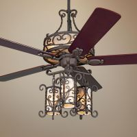 "60"" John Timberland Seville Iron Ceiling Fan With Remote ..."