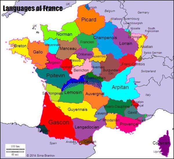 Languages of France Maps Pinterest Language and