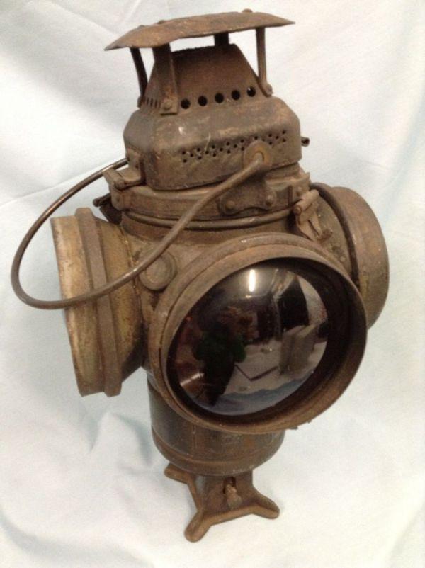 Railroad Lantern Adlake Non Sweating Lamp Chicago eBay