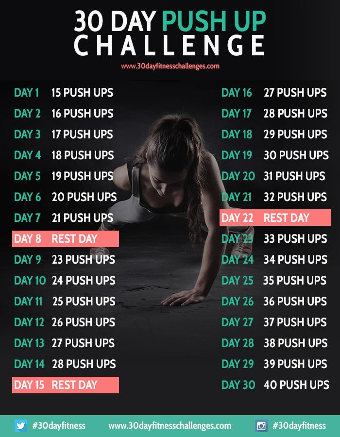 30 Day Push Up Challenge Fi