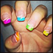 nails - french tip design