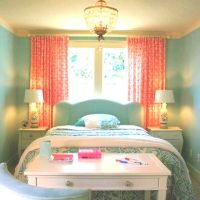 Peach & turquoise bedroom absoloutly adore