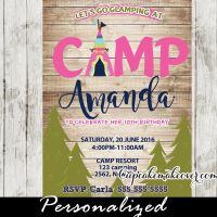 25+ best ideas about Camping party invitations on ...