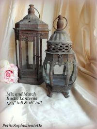SALE-Mix & Match Rustic Lanterns,indoor/outdoor-Rustic ...