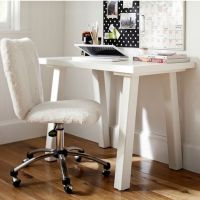 Pbteen fuzzy no-arm rest desk chair | College Life ...