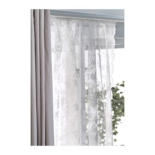 ALVINE SPETS Lace curtains 1 pair offwhite  Lace Lace