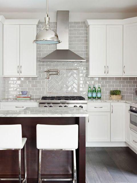 Stephanie Kraus Designs LLC White Cabinets Gray Backsplash Older House Renovation Before And